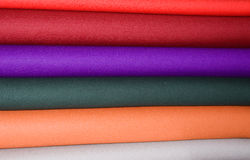 Woollen fabrics colorful stripes Royalty Free Stock Image