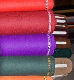 Woollen fabrics in taylor's shop Stock Photography