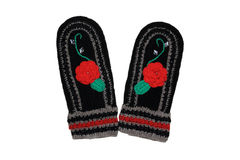 Woollen mittens Royaltyfria Bilder