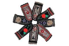 Woollen mittens Royaltyfri Foto