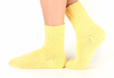 Woollen socks . Royalty Free Stock Photography