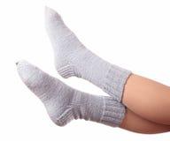 Woollen socks . Stock Images