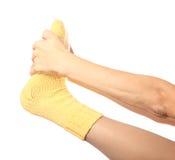 Woollen socks. Royalty Free Stock Images