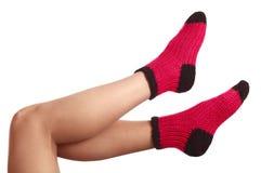 Woollen socks . Stock Photo
