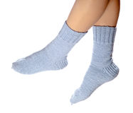Woollen socks Stock Image