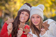 Woollie autumn fashion teens Stock Photos
