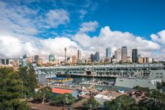 Morning at Woolloomooloo Bay, Sydney, Australia. Woolloomooloo Bay, Sydney, Australia -September 03, 2018: Sydney City Views and at Woolloomoolo Bay with Royal stock images