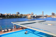 Bay of Woolloomooloo, Sydney Royalty Free Stock Image