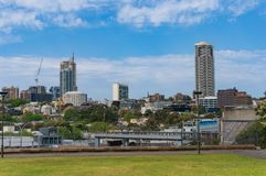 Woolloomooloo suburb cityscape aerial view. Woolloomooloo suburb cityscape panoramic view. Urban background Royalty Free Stock Photo