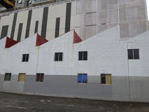 Woolloongabba factory wall Royalty Free Stock Images