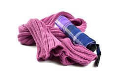 Woolly Scarf and Umbrella Royalty Free Stock Image