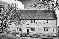 Woolsthorpe manor. Home of Isaac Newton and the place where he first conceived his theory of gravity after watching an apple fall from this tree to the ground Royalty Free Stock Photography