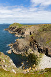 Wooltack Point hill overlooking Skomer Island Pembrokeshire Wales Stock Image