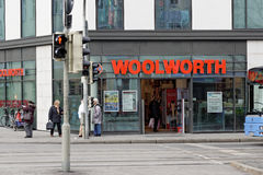 Woolworth. Store in munich with customers Stock Photos