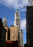 Woolworth Building. From financial district in New York City Royalty Free Stock Images