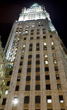 Woolworth Building. Manhattan at night Royalty Free Stock Image