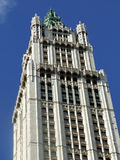 Woolworth Building. Top of the Woolworth Building New York Stock Images