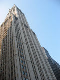 Woolworth Building. The famous Woolworth Building in the financial district of lower Manhattan in NYC Stock Photography