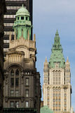 Woolworth Building. And adjacent buildings in NYC Royalty Free Stock Photo