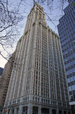 Woolworth Building facade. Street view Stock Image