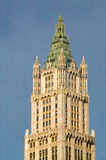 Woolworth Building, Neo Gothic architecture, terra cotta ornamen. Neo Gothic architectural detail with ornamental terra cotta panels of the Woolworth Building in Stock Photo