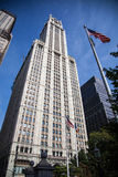 Woolworth Building New York City. Historical Woolworth Building in Downtown Manhattan Royalty Free Stock Photography