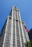 Woolworth Building. NEW YORK - JULY 6: Woolworth Building exterior view on July 6, 2013 in New York. Woolworth Building was the tallest in the world from 1913 to Royalty Free Stock Image