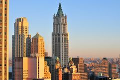 Woolworth Building - New York City. Woolworth Building at sunrise in New York City Stock Photo