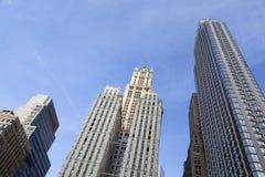 Woolworth-Gebäude in New York Stockbilder