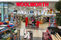 Woolworth. MEPPEN, GERMANY - FEBRUARY 2015: Woolworth discount store in Meppen. Woolworth GmbH is a Germany-based owner of the Woolworths chain of high street Stock Images