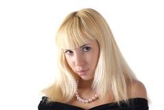 wooman barn för blond stående Royaltyfri Bild