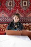 Wooman looking at menu Stock Photography