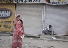 Wooman pobre indio foto de archivo libre de regalías