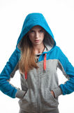 Wooman in sport hoody Stock Photography