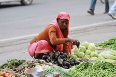 wooman sprzedawań warzywa Obraz Stock