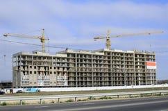 Woon complex in aanbouw Stock Afbeelding