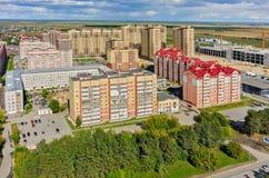 Woon complex van de sterstad Tyumen Rusland Stock Foto's