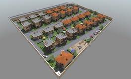 Woon 3D huis Stock Fotografie