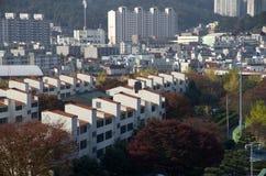 Woon de gebouwenzuiden Kore van de flathuisvesting stock fotografie