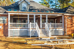 Woon huis in aanbouw Stock Foto