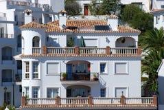 Woon huis in Spanje stock afbeeldingen