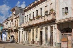 Woon Straat, Havana Stock Foto's