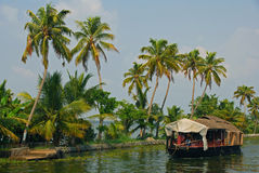 Woonboot in Alleppey Stock Fotografie