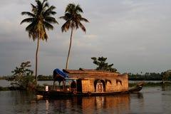 Woonboot, India royalty-vrije stock afbeelding