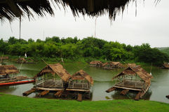 Woonboot in Thailand Stock Afbeeldingen