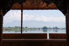 Woonboten, de drijvende luxehotels in Dal Lake, Srinagar Stock Afbeelding