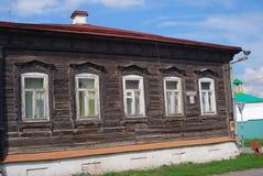 A woonden house. Kremlin in Kolomna, Russia. Stock Image