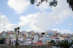 Woondistrict in Las Palmas, Gran Canaria Royalty-vrije Stock Foto