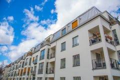 Woonhuis, flats in Duitsland royalty-vrije stock foto's