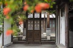 Woonhuizen, oude plattelandshuisjes en stegen in de oude stad van Nanjing, Nanjing stock foto